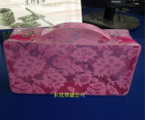 Pvc Beauty Bag van Clear pvc Material met Full Lace Print