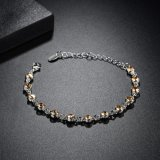 بيضاء [غب] [بروون] [أوستريل] بلّوريّة نمو مجوهرات سبيكة حجر كريم سوار سوار