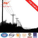 Acero eléctrico galvanizado poste para la línea de transmisión 33kv