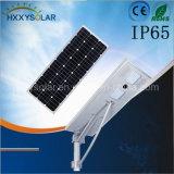 réverbère 60W solaire avec le panneau solaire, le contrôleur intelligent de mouvement et la batterie