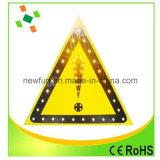 Segnale stradale alimentato solare del triangolo LED di alta luminosità