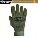 Чернота перчаток звероловства Airsoft напольного полного перста тактическая воинская