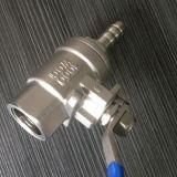 Valvola a sfera dell'acciaio inossidabile 2PC con il tubo di gas della natura (Q11F-64P)