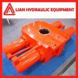 Cilindro hidráulico personalizado do desengate reto médio da pressão com aço de carbono