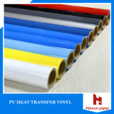 Klare Farben-Wärmeübertragung-Film PU gründete Vinylbreite 50 cm-Länge 25 M für alles Gewebe