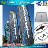 На пляже под флагом баннеры и пуховые флаги (M-NF04F06023)