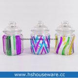 3PCS Mini pintados à mão Rond garrafas de vidro