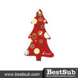 Het Ornament van de Sublimatie van de Houtvezelplaat van de Vorm van de Kerstboom van Bestsub (HBOM03)