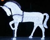 Decoração ao ar livre Cavalo Paisagem Solar LED Natal Luz decorativa
