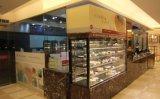 6 pés de bolo retangular assistida por ventoinha armário para produtos de padaria