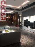 Biblioteca da madeira do estilo de Milão Best-Selling dos gabinetes da sala de visitas