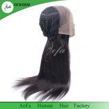 Neuer Entwurfs-unverarbeitetes frontales Spitze-Perücke-Jungfrau-Peruaner-Haar