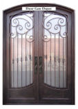 Dobles de acero exterior puerta de hierro de la puerta de seguridad de acero rejilla