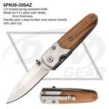 """Liner Lock 3.5"""" Entrega diaria cuchillo con mango de madera: 6Pn39-35saz"""