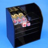 Le présentoir Four-Layer noir de rouge à lievres