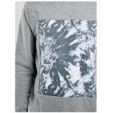 Ultima maglietta felpata del pullover di disegno del Mens grigio-chiaro senza cappa