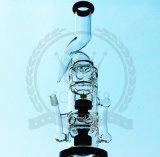 Corona Fabricante Reciclador de tabaco rosado Tall Color Bowl Cenicero de artesanía de vidrio Tubos de vidrio Heady Beaker Tubo de agua de vidrio burbuja