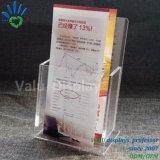 Poche unique de l'acrylique Brochure détenteur d'affichage Perspex Flyer Stand pour le compteur