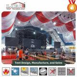50X50mの巨大なコンサートの多角形の玄関ひさしの音楽祭のテントホール