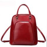 Manier Pu Dame Leather Backpack voor Studenten