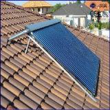 2016 70 mm de metal y cristal de tubo de evacuación de calor de tubo colector solar