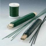 Fil floral de cheminée de mesure verte de PVC Caoted 33