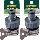 Raccords de tuyau de jardin Adaptateur de robinet d'eau femelle femelle ABS avec serre-câbles