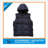 Equipo universitario Sleeveless Winter Jacket de los muchachos con Puff Padding