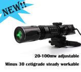 Subzero tactique Fusil de chasse à longue distance portée Solution de vision de nuit de 100MW Lumière stroboscopique disponible désignateur laser vert éblouissant torche lampe de poche