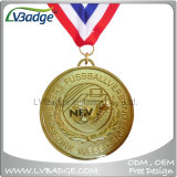Medaglia di oro di sport di alta qualità con la sagola