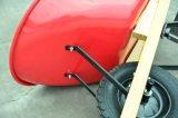 正方形のハンドルの木のハンドル米国の手押し車