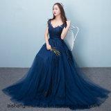 Nuevo estilo Sexy novia vestidos de noche azul marina