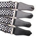 Courroie Checkered noire et blanche de configuration pour la basse de guitare