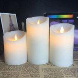 Малый диаметр 2,2 дюйма и танцы пламени восковой свечи