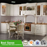 現代フラットパックの木の台所食器棚デザイン