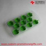Grünes Miniapple-Form-Eis-Schokoladen-Würfel-Tellersegment