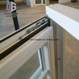 Cor de acabamento da mancha branca empurre a janela francesa com grelha