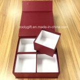 엄밀한 마분지에 의하여 재생된 포장 자석이 4개의 안 열리는 격실을%s 가진 단단한 서류상 선물 자석 상자를 상자에 넣는다