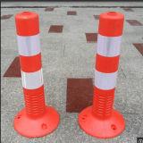 反射テープが付いている蛍光赤い道路交通の安全ばねの印
