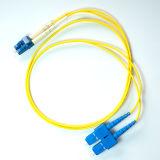 LC al cavo di zona ottico duplex della fibra del PVC MP dello Sc
