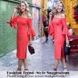 Frauen-Trompete-Hülsen-Büro-Kleid-reizvolle Form-dünnes beiläufiges Kleid