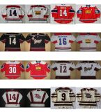 Индивидуальные Ohl Питерборо Petes Джерси 14 Джон Druce 12 Ив Bastien 9 Макдональд мужская дети женщин сшитое по хоккею футболках Nikeid Goalit разрез