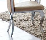 Muebles de hogar Comedor elegante boda silla metálica de acero inoxidable