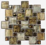 Brown Mix en mosaïque de verre en cristal
