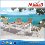 Bello patio Furniture Rattan Dining Chairs e Teak Table Design