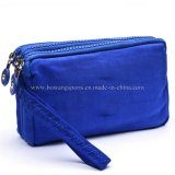 2019 L'été nouveau sac étanche sac à main femmes Korean Style trois Zipper Multi Layer Wallet un sac à main petit sac à main de changement de téléphone mobile