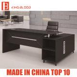Diseño sencillo más vendido en forma de L Vidrio negro Despacho