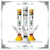 17inches Rokende Waterpijp van het Glas van de Waterpijp van de Basis van Perc van de Schroef van het Glas van de gunst de Rubber