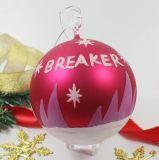 Bille en verre de haute qualité de la décoration des arbres de Noël
