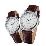 De Horloges van het Paar van de Minnaar van de Legering van de Juwelen van de manier met de Beweging van het Kwarts (jy-PU010)